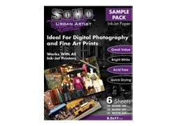 Photo Paper Sampler (SoHo Ink-Jet Paper Sampler Pack 8.5x11