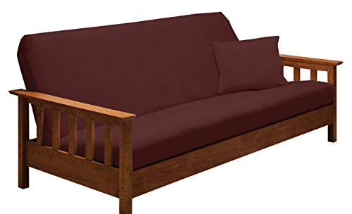 Madison Stretch Jersey Futon Slipcover Ruby,