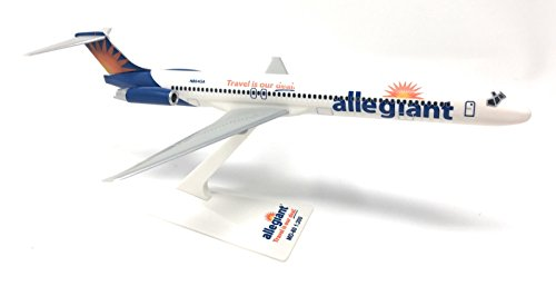 Allegiant Air Mcdonnell Douglas Md 80 Airplane Miniature Model Snap Fit 1 200 Part  Amd 08000H 022