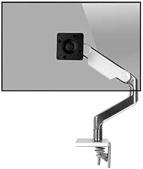 Humanscale M8.1 Monitor Desk Mount Clamp Slanted White (M81CMWBTB)