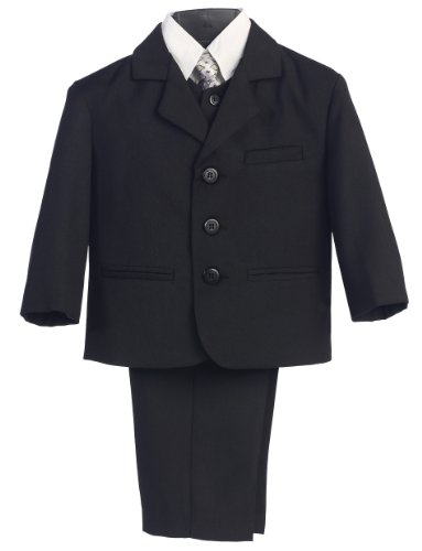 Five Piece Suit (5 Piece Black Suit with Shirt, Vest, and Tie (20 HUSKY))
