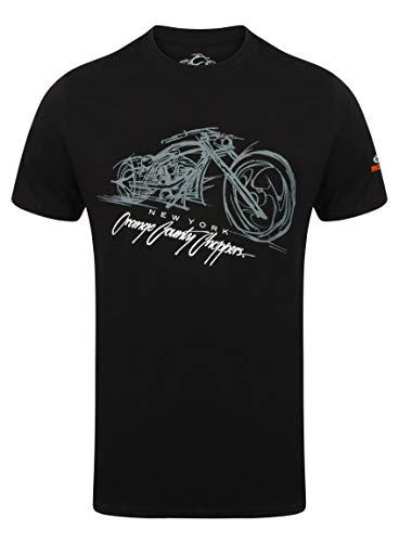 - Orange County Choppers Men T-Shirt Bike Render, Size:3XL, Color:Black