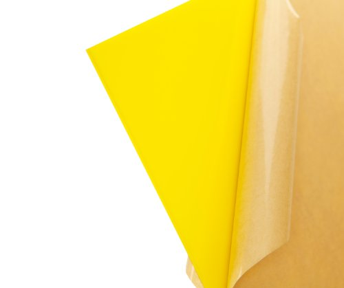 "Cast Acrylic Sheet - .118"" Thick, TL Yellow, 12"" x 12"" Nominal"