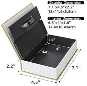 libro de desviaci/ón oculto multicolor Caja de almacenamiento de tama/ño peque/ño con cerradura de combinaci/ón de seguridad