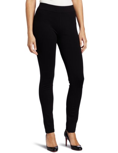 (NYDJ Women's Petite Jodie Basic Ponte Pull On Legging, Black, 12P)