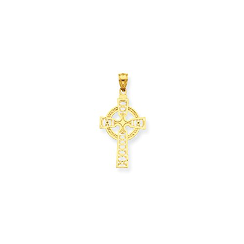 ICE CARATS 14kt Yellow Gold Irish Claddagh Celtic Knot Cross Religious Eternity Circle Pendant Charm Necklace Iona Fine Jewelry Ideal Gifts For Women Gift Set From Heart 14kt Gold Celtic Cross Pendant