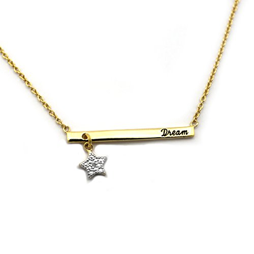 18k Yellow Gold over Sterling Silver .01ct Diamond