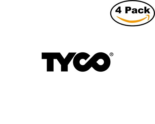 - Tyco 4 Stickers 4X4 inches Car Bumper Window Sticker Decal