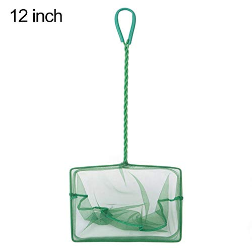 fanmaosdf Fish Net,Portable Aquarium Fish Shrimp Quick Catch Net Mesh Fishnet Long Handle Tool 12Inch (12 Inch Net Fish)