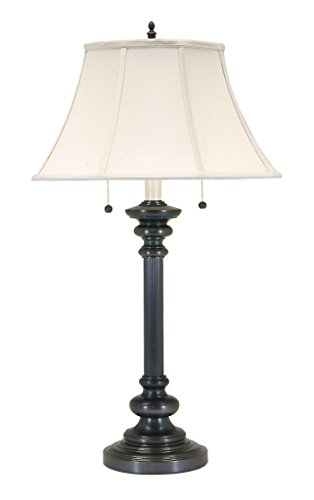 - House Of Troy N651-OB Newport Collection Portable 30-1/4-Inch Table Lamp, Oil Rubbed Bronze with White Softback Shade