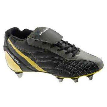 Webb Ellis Cobra VS Mid Cut suave Toe botas de Rugby, negro, 40,5 EU