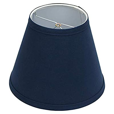 """FenchelShades.com Lampshade 4"""" Top Diameter x 8"""" Bottom Diameter x 6"""" Slant Height with Clip-On Attachment for Standard Edison-Style Lightbulb"""