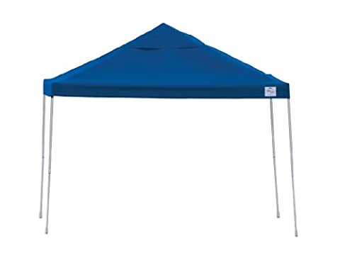 12x12 Straight Leg Pop-up Canopy, Blue Cover, Black Roller Bag - Shelterlogic Canopy