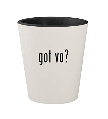 got vo? - Ceramic White Outer & Black Inner 1.5oz Shot Glass