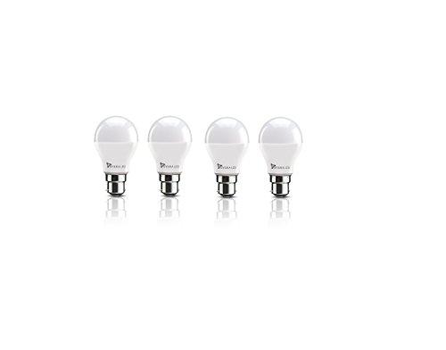 Syska SSK SRL 3W Base B22 3 Watt LED Bulb  Pack of 4, Cool Day Light