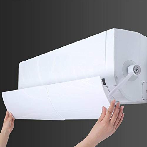 Retractable Air Conditioner Air Deflector, Tuscom Universal Scalable Air Conditioning Deflector Air Diverter Cover Telescopic Anti-Wind Baffles Anti Direct Blowing Windshield Wind Guide (White)