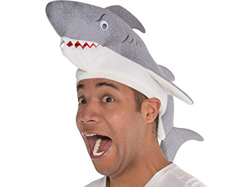AMSCAN Shark Hat Halloween Costume Accessory for Adults, One -