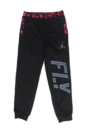 Jordan Big Boys Therma-FIT Camo Pieced Jogger Pants (M(10-12YRS), Black/Gym Red)