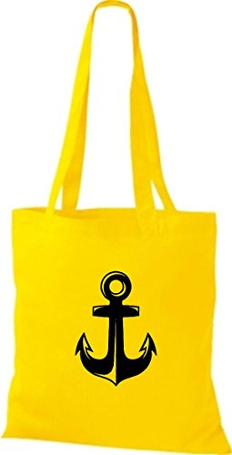 Shirtinstyle Cotton Anchor Candle Bag Bag Motifs Yellow Cloth xqrSZwx
