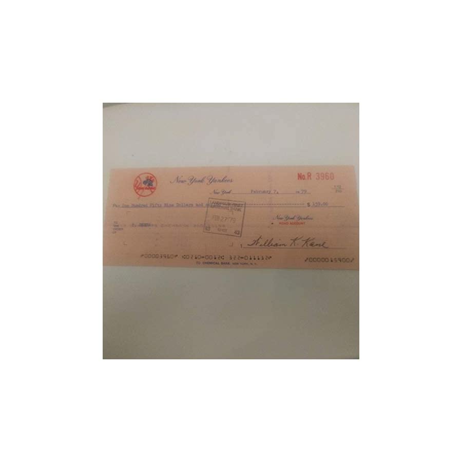 Rare Yogi Berra Autographed Signed Paycheck From The Yankees JSA