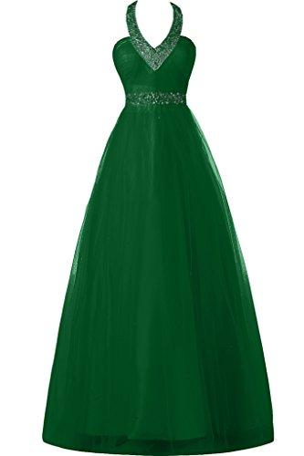 halter linea Sunvary lunghezza collo applicate da Homecoming totale sera una abito verde oscuro fiesta Tq5r5gnwty