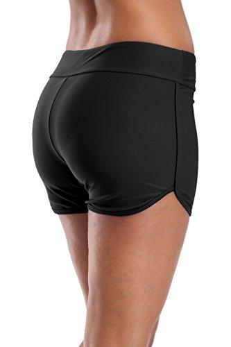 beautyin Solid Swim Shorts for Women Boyshort Swimming Bottoms Boardshorts L by beautyin (Image #4)