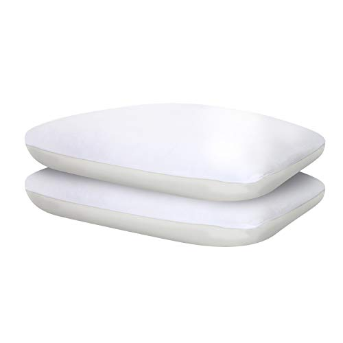 (Sealy Comfort Plus Cooling Pillow Two Pack, Standard, White)