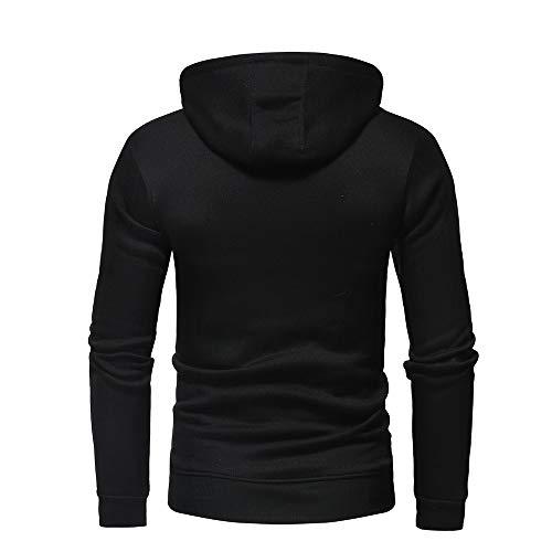 SESY Mens Hoodie Long Sleeve Sweatshirt Cake Bread Cookie Cool Printed Hooded Pullover Pocket Black