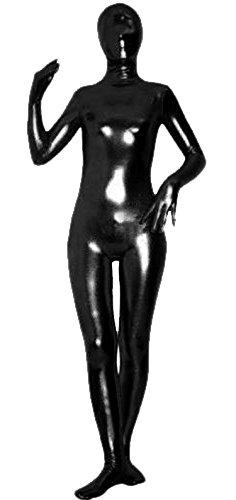 VSVO Unisex Baby Shiny Spandex Skin-Tight Full Bodysuit Zentai Costume (Large, Black) -