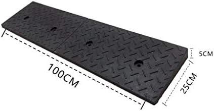 XUZgag サービススロープブラックラバー車両スロープアウトドア沿道安全スロープをインストールする4-10CM駐車場のスロープ、安定した簡単 安全な上り坂パッド (Color : Black, Size : 9CM)