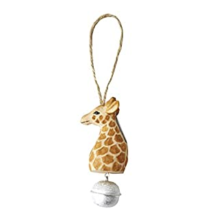 Vikano 3D Wooden Puzzle Wild Animal Toy Bells,DIY Tiny Model Kit-Animal Action Home Decoration Unique Birthday Easter Day Toys for Daughter Women Girls Boys(Giraffe)
