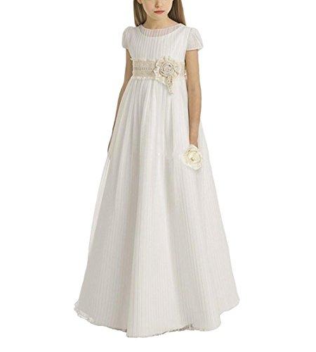 Blumenmädchenkleid Mädchen Mingxuerong Linie A Formalen Elfenbein Kinder Partykleider wxFq68EfF