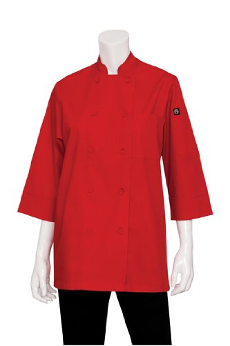 Chef Works Men's Essential 3/4 Sleeve Chef Coat