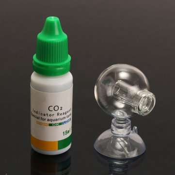 Aquarium Co2 Monitor - Aquarium Ph Monitor - Aquarium Carbon Dioxide CO2 Monitor PH Indicator Glass Drop Ball Checker Tester ( Co2 Indicator Glass )