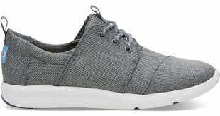 TOMS Women's Del Rey Sneaker Steel Grey Poly Canvas Oxford
