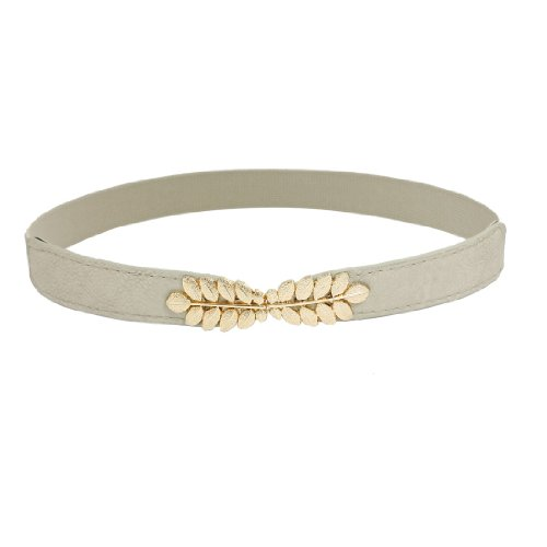 Interlocking Buckle (uxcell Woman Leaf Shaped Interlocking Buckle 2.5cm Wide Grey Cinch)