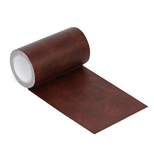 (Onine Leather Repair Tape Patch Leather Adhesive for Sofas, Car Seats, Handbags, Jackets,First Aid Patch (red Brown Leather))