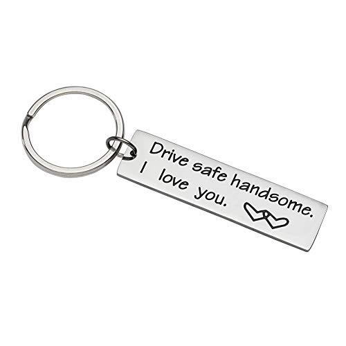 Valentines Day Gifts Drive Safe Keychain Drive Safe Key Ring Dad Gift Trucker Husband Gift Couples Engraved Keychain Boyfriend Girlfriend Key Chain Birthday Gifts Key Tags