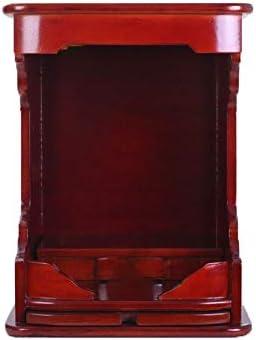 神聖 富観音仏内閣神社デスク安置表のソリッドウッド仏神社ホーム神 LLCC (Size : 12.6×16.1in)