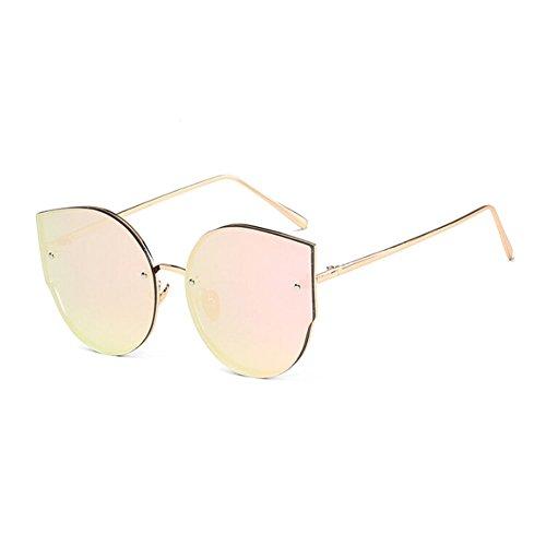 UV400 Mode Femme Anti Lunettes Oeil de Pink soleil volant chat Métal vue Lunettes vertiges Meijunter de Gold Cadre Lunettes de Cru Au vFSdqf