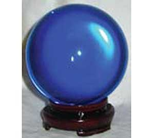 Crystal Ball Ouiji Séance Toy Search For Wisdom Divination Tool 50mm Blue 2''