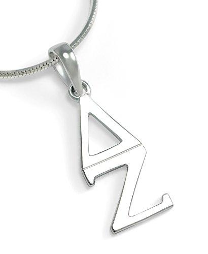 The Collegiate Standard Delta Zeta Sorority Sterling Silver Classic Lavaliere