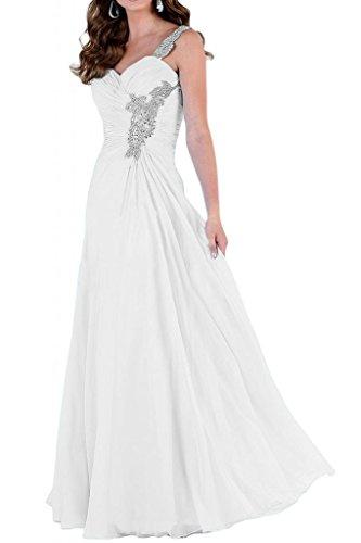 Diseño de la Toscana de la novia vestidos de noche un-hombro glamour de dama de honor vestidos de fiesta de fútbol Prom de largo blanco