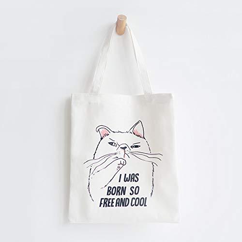 À De Léger Shanzwh Mignon Chat Imprimé Fourre tout Frais Par D'école D'épaule Sac Sacs chat Bandoulière Shopping w11SPIq8