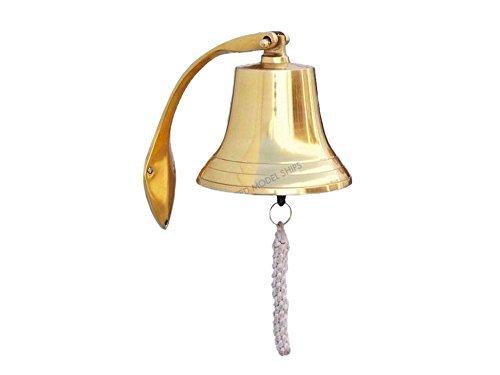 Brass Hanging Harbor Bell 7'' - Brass Hanging Bell - Coastal Living Decor - Deco