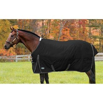 Rider's by Dover Saddlery Supreme Turnout Sheet - Black/Grey, 78 by Rider's International
