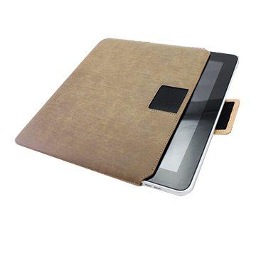 Genuine Leather Ipad Sleeve Beige - Sunpentown IP60004