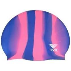 TYR Multi Silicone Cap, Purple/Pink