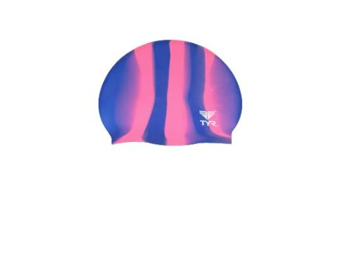 TYR Multi Silicone Cap, Purple/Pink