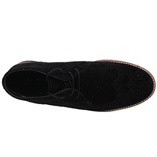 Unze Jayd' Botas Hombres Suede Boots Casual Botas Chukka Desert Negro